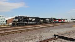 New Power On 33Q (Matt_Schimmel) Tags: norfolksouthern ns emd rebuilt sd60e 33q mitchell illinois ferromex fresh altonandsouthern as train freight