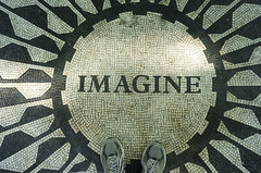 What John Lennon Said (Flipped Out) Tags: newyorkcity centralpark strawberryfields johnlennon thebeatles