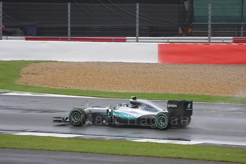 Nico Rosberg in his Mercedes in the 2016 British Grand Prix