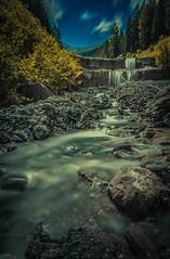 Wasserfall (Martino Hemmi) Tags: hdr mountans wather blue tree green sky
