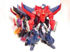 Aerialbot Optimus (sebastien.robo) Tags: prime transformers optimus animated custom sunstorm starscream skywarp aerialbot