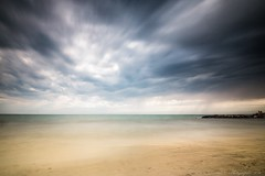 When it's rainning on the Hot beach - Mazzanta, Toscana (IT) (Pascal Dentan) Tags: inlovewithitaly 2016 cecina ciel exposition italie longue mazzanta plage pluie sable toscane vacances vent eau awesome view pov beach sand sky blue wind watter long exposure haveaniceday nuage ocan littoral mer rivage paysage seascape extrieur