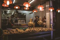 Goose, Duck, Pigeon, Kam Wa Market, Hong Kong (Kris McNeil) Tags: china cooking shop shopping geese duck market outdoor pigeon goose hong kong seller roasted 2016