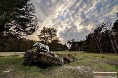 M41 Walker Bulldog (Sbastien Pignol Photographie) Tags: old light urban cloud color ex beautiful canon germany lost war tank decay bulldog walker forgotten american former char nuage exploration guerre sebastien 6d urbex urbaine oubli forbbiden m41 14mm samyang pignol