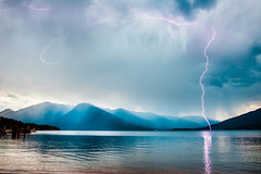 Lightening Strike in the mountains (Neil Volk) Tags: mountain wow lightening