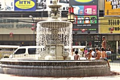 heat relief (DOLCEVITALUX) Tags: water fountain kids children philippines relief streetkids humid heatrelief canonpowershotsx50hs
