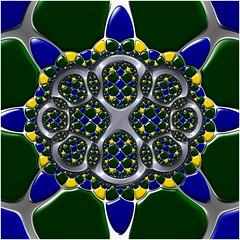 Emerald Foam (Ross Hilbert) Tags: fractalsciencekit fractalgenerator fractalsoftware fractalapplication fractalart algorithmicart generativeart computerart mathart digitalart abstractart fractal chaos art ifs iteratedfunctionsystem strangeattractor chaosgame escher spiral apolloniangasket kleiniangroup circleinversion mobius circles felixklein henripoincare