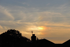Sun dog over houses (sjb_astro) Tags: sun sundog weather canon600d stokesley northyorkshire parhelion mocksun handheld 250mm 55250mm