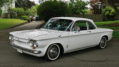 1961 Chevrolet Corvair 900 Monza coupe (Custom_Cab) Tags: 1961 chevrolet corvair 900 monza 2door 2 door club coupe sedan white car chevy