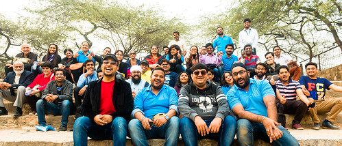 Accessible Tour of Qutub Minar: The entire group of travellers with their buddies.