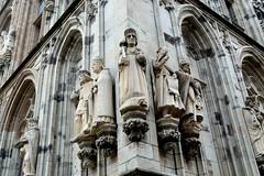 Grim Rathaus faces (patentboy) Tags: cologne koeln germany rathaus statue rudolfi vikingrivercruises vikingve grandeuropeantour