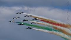 Frecce Tricolori (Alenia Aermacchi M-345) (JPaulTierney) Tags: 2016 airshow bray ireland italian frecce tricolori aleniaaermacchi m345 jet formation flying display canon 7dmkii ef70300