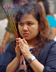 Woman in Hanoi (Jom Manilat) Tags: woman praying ngoc son temple hoan kiem lake hanoi ha noi viet nam vietnam