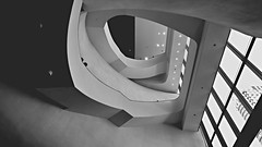 The world's ninth new landmark in Taichung - 7 (rightway20150101) Tags: bw        taichung taiwan toyo ito design architecture  building architect  stairs monochrome  curve  theater landmark arch