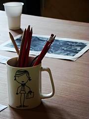 (anastasia_ania) Tags: cup pensils colours children childish paint kindergargen kids joy girl happy city citycentre art
