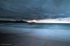 Beach at sunset (norm.edwards) Tags: slow shutter beach blue newquay summer 2016 clouds moody