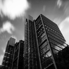 iArchitecture 54 (jrockar) Tags: city urban blackandwhite bw motion blur building london 6x6 mobile architecture contrast square photography mono design movement long exposure noir phone slow cell slowshutter shutter iphone londonwall 5s iphonography snapseed