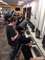 "Chase Pranga at the 2014 Hour of Code • <a style=""font-size:0.8em;"" href=""http://www.flickr.com/photos/109120354@N07/15475209013/"" target=""_blank"">View on Flickr</a>"