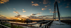 Infinity Bridge, Stockton on Tees (dave hudspeth photography) Tags: bridge water river infinity stockton tees tesside infinitybridge steelsunrise