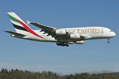 Emirates Airbus A380-861; A6-EEW@ZRH;18.10.2014/766bv (Aero Icarus) Tags: plane aircraft emirates flugzeug avion zrh zrichkloten airbusa380 flughafenzrich a6eew