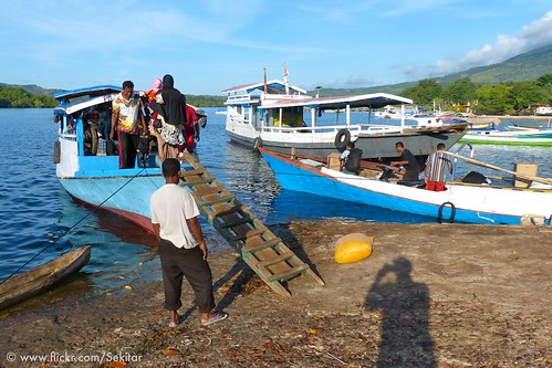 Ready for departure from Baranusa to Kalabahi, Pantar NTT Indonesia