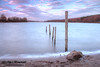Reservior (pblackwell27) Tags: longexposure sunset sky lake beach water stone landscape sticks horizon foreground eastmidlands stauntonharold leadinlines eastmids canon550d eoscanon550d stauntonharoldreservior