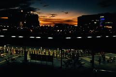 Going Home (Explored) (OzGFK) Tags: street sunset people sun night evening singapore asia transport trainstation bluehour mrt jurongeast vsco iphone4s jcube