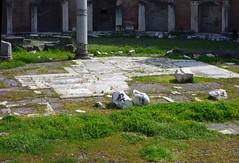 Trajan's Forum Exedra paving