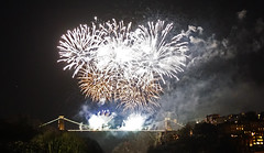 Clifton Suspension Bridge 150th Anniversary (mesmoland) Tags: show bridge bristol suspension display fireworks anniversary clifton pyrotechnics 1864 150th mesmoland