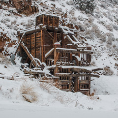 Golden Gate Mill (Jeffrey Sullivan) Tags: california copyright usa snow mill jeff canon photography eos photo site mine hiking sierra stamp walker sullivan activity eastern active feburary snowshoing 2015 monocounty 70d outroors sanfranciscomill