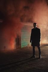 (Subversive Photography) Tags: shadow portrait mist man abandoned fog dark mood smoke atmosphere conceptual cinematic garages smokegrenade danielbarter