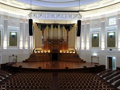 Pipe Organ and stage in Main Auditorium - Brisbane City Hall (Aussie~mobs) Tags: building heritage architecture cityhall interior brisbane queensland foyer auditorium 1930
