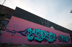 Klone / Zenor, TFA (tombomb20) Tags: street streetart art wall graffiti paint tag leeds spray drain graff klone sewers 2061 tfa meanwood 2015 zenor tombomb20 klonism klone2061