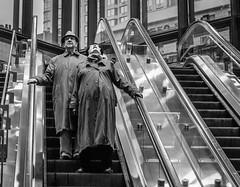 Looking (John St John Photography) Tags: blackandwhite bw woman man subway blackwhite worldtradecenter broadway streetphotography mta fultoncenter peopleofnewyork