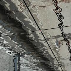 Heilbronn, Bildungscampus, aim (Detlef Schobert) Tags: germany campus grid education panel steel ceiling decke aim dieter atrium lunar partner schwarz stainless heilbronn gluck treppenhaus glck rostfrei edelstahl stiftung lindner paneele exyd rasterdecke exydm bildungscampus