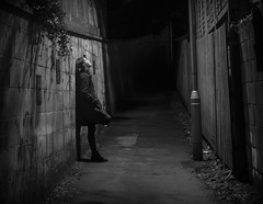 Lottie and alleyway light long exposure (mark.abrams81) Tags: