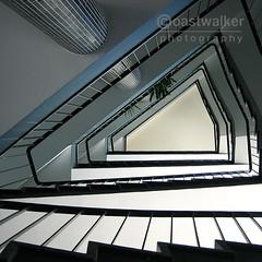 Halflight (coastwalker) Tags: architecture stairs hamburg steps perspective stairwell stairway treppe escalera staircase architektur escalier treppenhaus escadaria  coastwalker