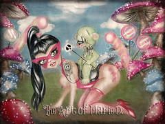 #4 (The Art of Marie D.) Tags: hot cute sexy nature clouds mushrooms bigeyes candy mask drawing fantasy teddybear surrealist lollipop lollipops bighead hotgirl bigeye bigtits fantasyart sexygirl bigboobs theartofmaried
