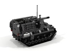 """Trebuchet"" Medium Self Propelled Artillery (-Lee Barton-) Tags: lego military trebuchet howitzer ldd selfpropelledgun internalview legotank"