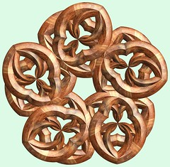5 Knots /  (TANAKA Juuyoh ()) Tags: knot    mathematica 3d cg parametricplot3d texture code program algorithm abstruct graphic design pattern structure mapping figure                     symmetry