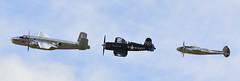 Flying Bulls 2: B-25 Mitchell, Lockheed P-38L Lightning, and Chance Vought F4U-4 Corsair, Flying Legends, 2016 (Peter Cook UK) Tags: show flying air bulls airshow legends duxford corsair chance lightning mitchell lockheed b25 2016 p38 f4u4 vought p38l