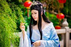 (bdrc) Tags:  novel cosplay portrait natsuki temple chinese hanfu   prime vivitar 135mm