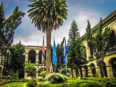 The garden of the palacio municipal in Xela.