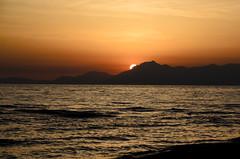 La Costiera Amalfitans vista da Paestum (rafpas82) Tags: mare campania costa costieraamalfitana paestum sole tramonto sunset red gold silhouette sigma 1770sigmacontemporary 1770sigma nikond7000 nikon summer 2016