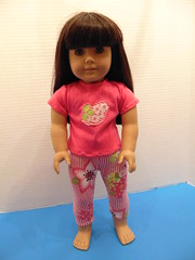 Recycled Child Shirt Outfit for American Girl (poplinholly) Tags: american americangirl ag girl shirt doll dolloutfit dollshirt recycled upcycled 18inch 18 inch teeshirt tee tshirt dollpants dollleggings leggings pants handmade hand made