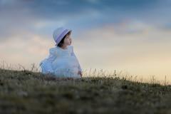 Little angel (michaelinvan) Tags: fairy tale angel girl whitegown sunset grass hat toddler canon 135mm f2 1d3 sky richmond child