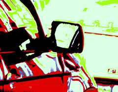 Car (Rob Goldstein -Thanks for your support) Tags: sanfrancisco california red abstract color photomanipulation photoshop colorful saturation abstracted photoprocessing artbyrobgoldstein