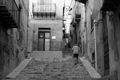 ITALIE, sicile, sciacca (Bruno Cochet) Tags: street monochrome photography stair italia noir et blanc escalier sicilia