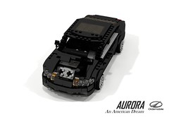 Oldsmobile Aurora (1995) (lego911) Tags: olds oldsmobile aurora 1995 1990s v8 gplatform luxury sedan saloon gm general motors auto car moc model miniland lego lego911 ldd render cad povray usa america challenge 104 thescienceofitall science