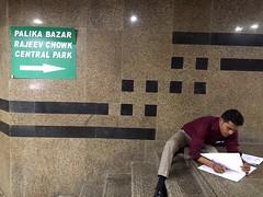 Workaholics World (Mayank Austen Soofi) Tags: delhi walla subway office connaught place workaholics world
